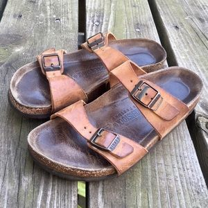 Birkenstock Leather Two Strap Sandals